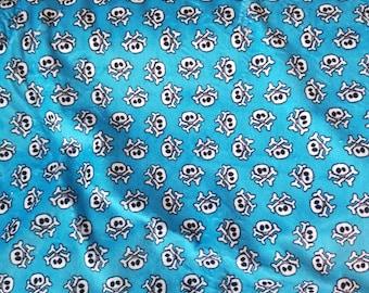 Skull Minky. Blue skull minky. Shannon Fabrics. Minky Fabric. Pirate minky. Skull fabric. Skull minky fabric