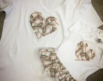 Baseball dress AND matching shirt. Mother Daughter, Minne Mouse Set