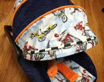 Dirt bike, motocross, Infant Replacement Car Seat Cover