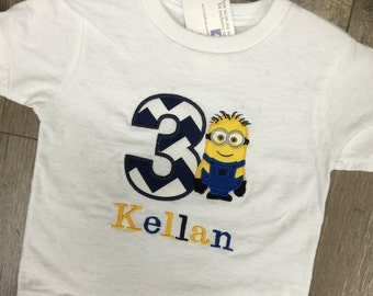 Custom Birthday Shirt. Minion