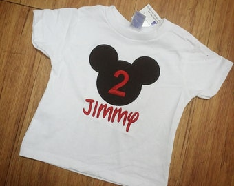 Mickey Mouse Tshirt. Personalized.