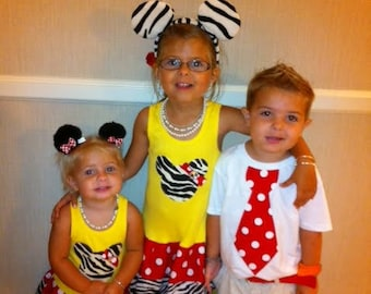 Safari Minnie Mouse Dress. Zebra Minnie Mouse Dress. Zebra Mickey Mouse Dress.