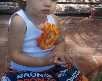 Football Dress. Cheer dress. Broncos Dress. Custom kids clothing. Sports Dress