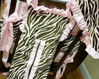 Diaper Stacker. You choose fabrics. Pink Brown Zebra