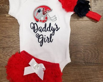 Custom Infant Gift Set. You choose favorite team. New England Patriots