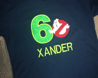 Custom Birthday Shirt. Ghostbusters