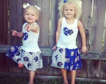 House Divided Dress. All NFL and College Teams Available. Football dress. Baseball dress. House divided family.