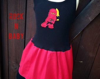 Girls Dress. Ninja themed