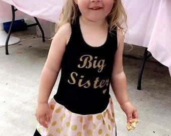 Big Sister Dress. Gold.