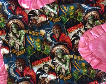 Monsters baby blanket. Hollywood Monsters Blanket.