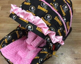 Pittsburgh Steelers, Infant Car Seat Replacement Cover.