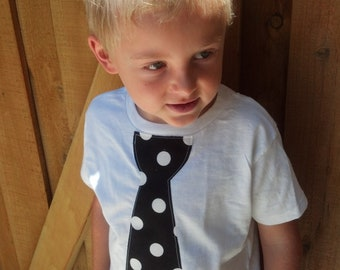 Polka dot tie Shirt. Photo Prop. Black Polka dot tie. boys tie shirt.