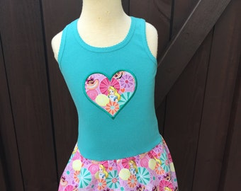 Alice in Wonderland Dress. Teal