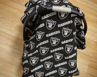 Oakland Raiders, minky, car seat canopy tent