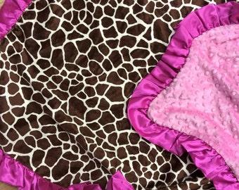 Giraffe Minky blanket.