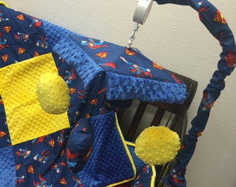 Superman, Crib Mobile. Custom your own. You choose fabric.