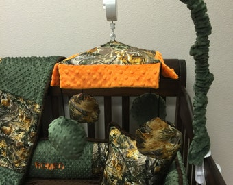 Real Tree, Animals, Camo, Crib Mobile. Custom your own. You choose fabric.