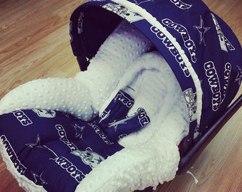 Dallas Cowboys, Infant Car Seat Replacement Cover. You choose accent colors.