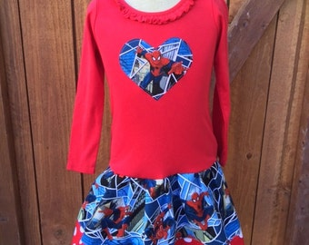 Spiderman Dress. LONG SLEEVE