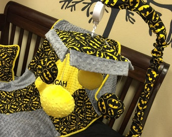 BATMAN, Crib Mobile. Custom your own. You choose fabric.