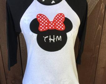Minnie Mouse Raglan. Women's