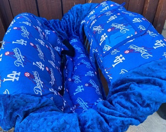 Shopping Cart Cover. Made with Dodgers Fabric. Buggy cover. Dodgers cart cover
