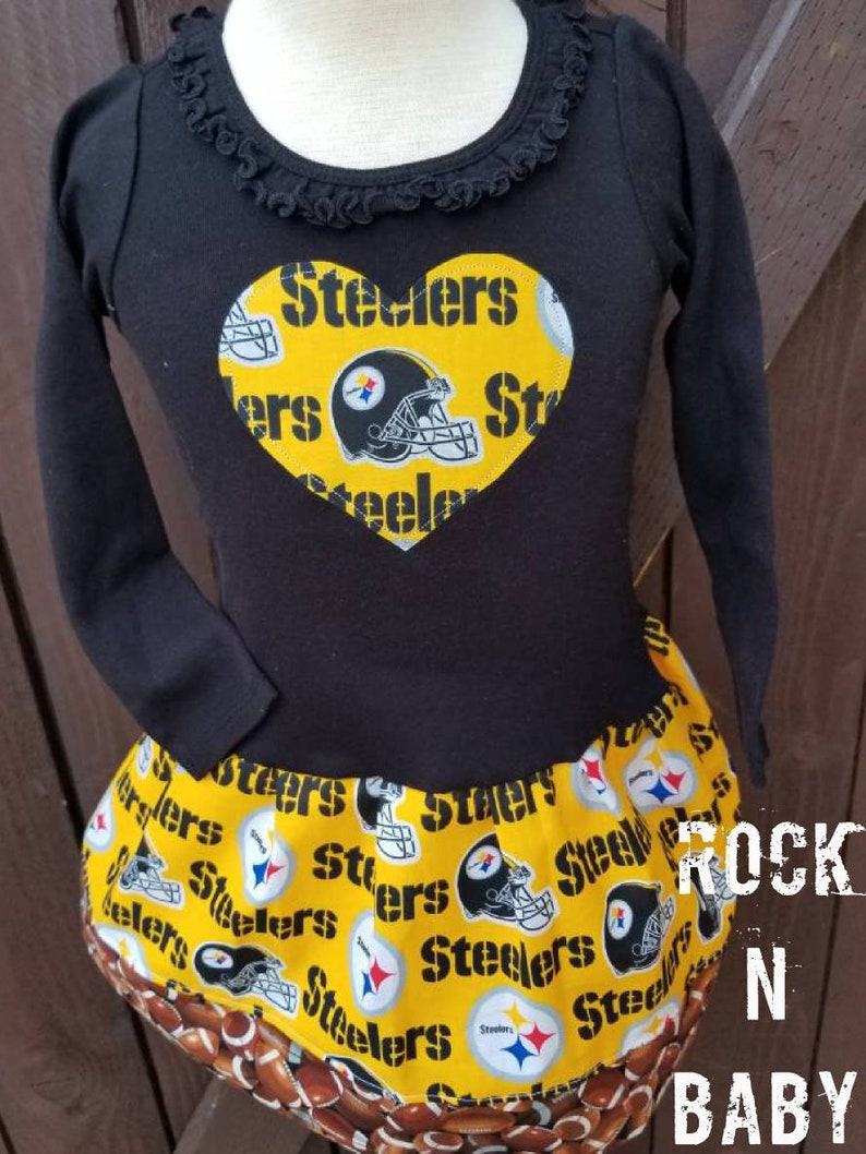 Football dress Pittsburgh Steelers dress Steelers dress Long sleeve Steelers dress.