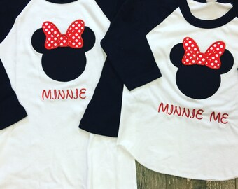 Minnie Mouse Raglans. Any color available. SET OF 2.