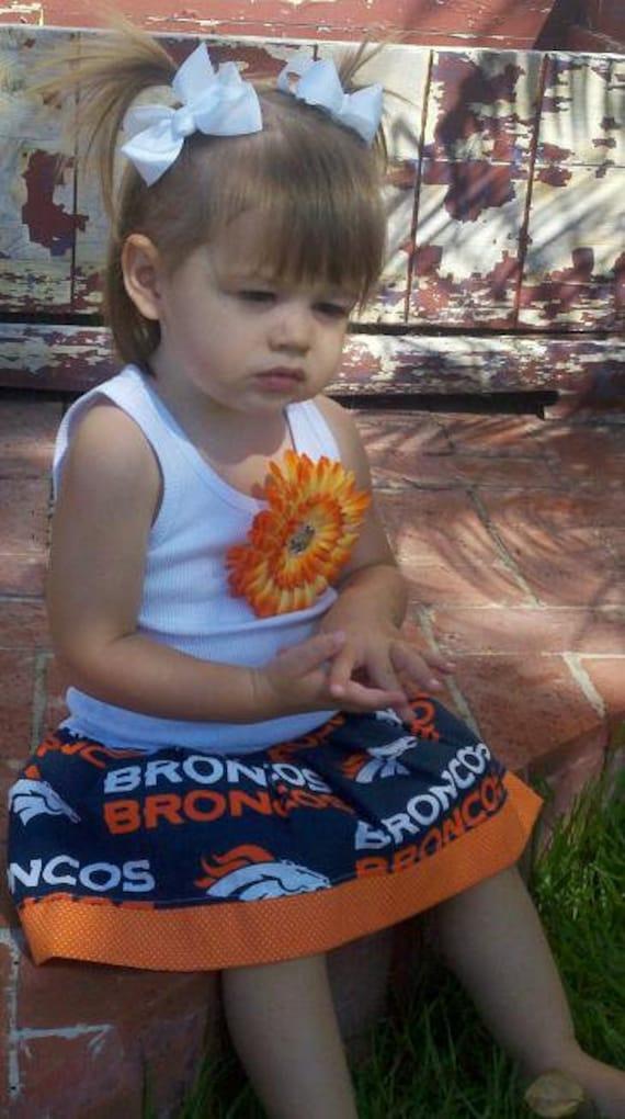 Custom kids clothing Cheer dress Football Dress Sports Dress Broncos Dress