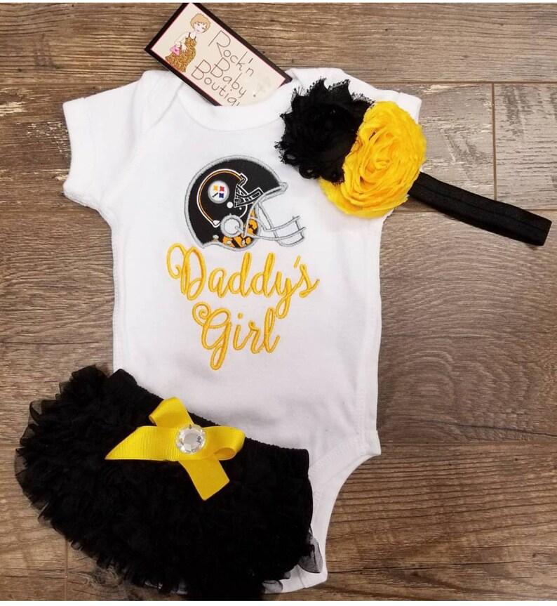 best service cc437 56203 Infant gift set. Baby girl onesie. Pittsburgh Steelers Onesie. Steelers  baby girl.