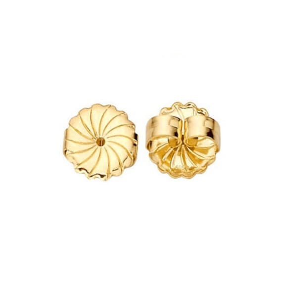 14K White /& Yellow Solid Gold Earring Backs Large Medium Small 1 PAIR Butterfly
