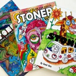 Stoner Coloring Book for Adults COMBO DEAL. All 3 volumes, perfect stoner gift, Weed art.