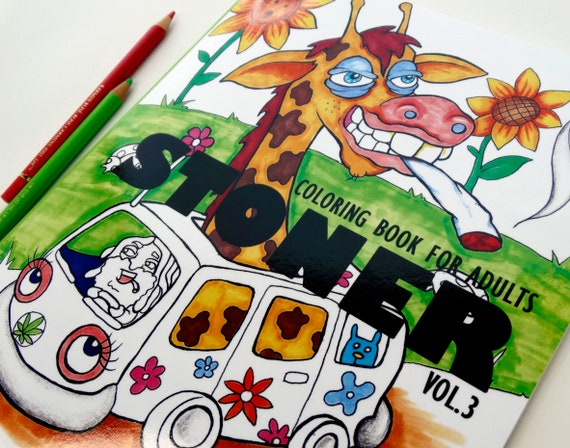 Stoner Coloring Book For Adults Vol3 Weed Stuff Adult
