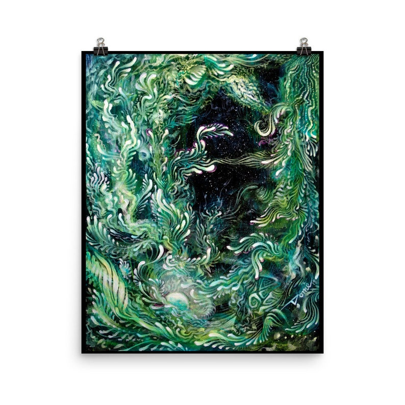 Abstract Art Print Abstract Wall Art Trippy Poster Office image 0