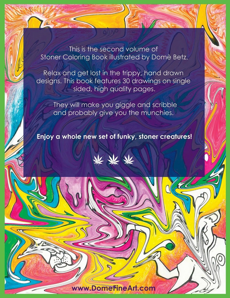 Stoner Coloring Book for Adults 2 weed stuff adult ...