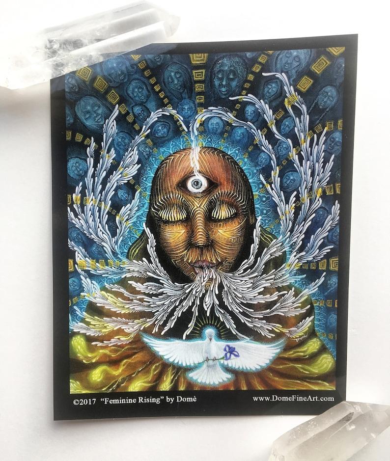 Vinyl Sticker featuring painting Feminine Rising image 0
