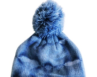 Winter Hat Black Clementine Surfwear Mens Lightweight Tie Dye Beanie Skullie Blue