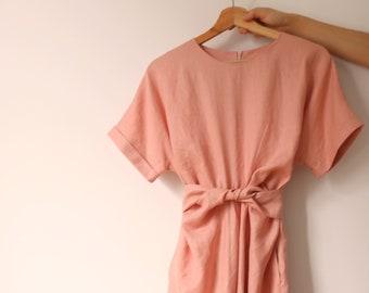 Berry Dress (More colours available) -blush /dusty pink linen dress /twist dress /summer linen dress