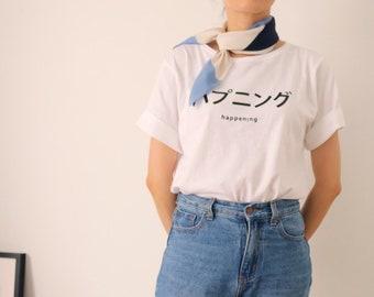 Bleu Scarf - blue geometric silk scarf