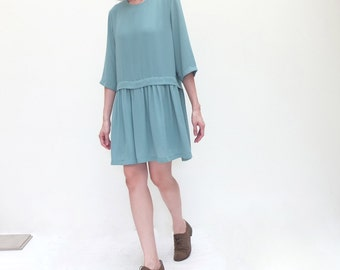 aquamarine layered babydoll dress