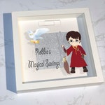 Personalised Money Box / Reward Frame Printed magical wizard Harry Potter fans