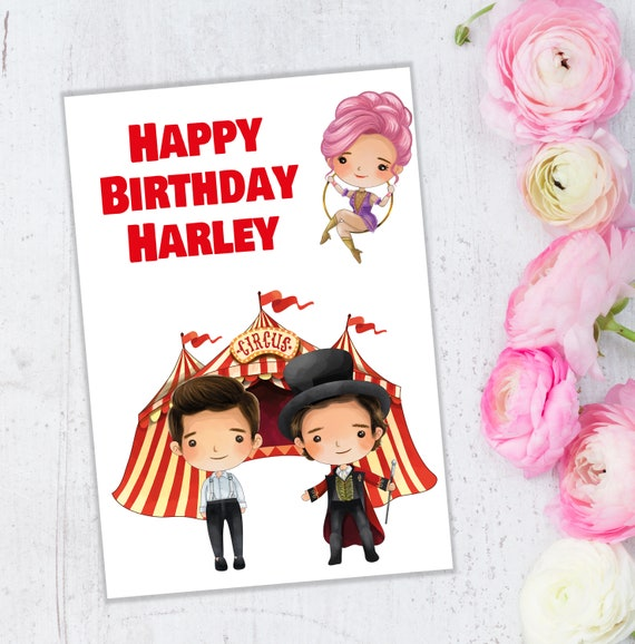 Personalised The Greatest Showman Birthday Any Greetings Card A5 Your Name