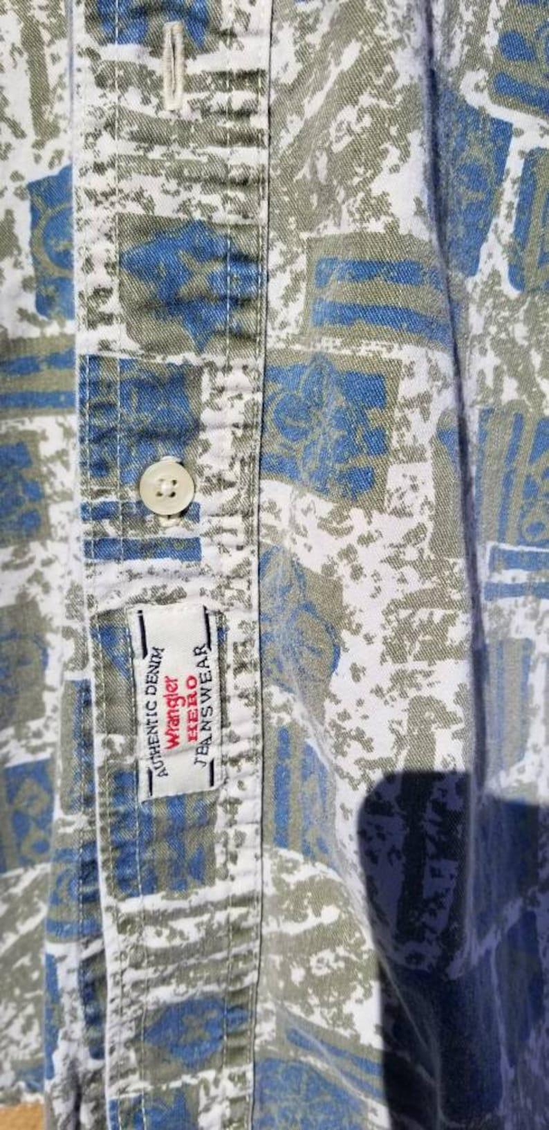 Vintage Wrangler Hero Short Sleeved Button Up sz M