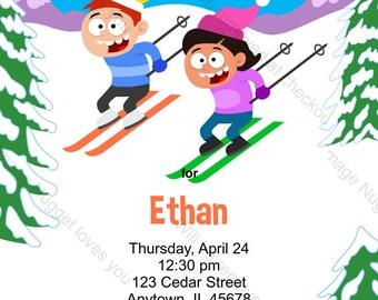Ski Einladung Etsy