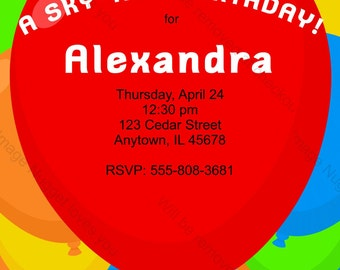 Primary color invite | Etsy