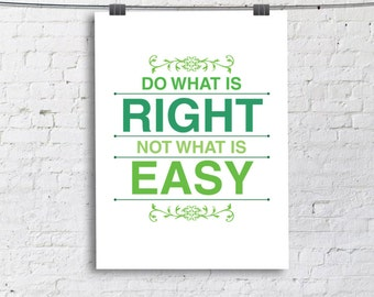 Do What Is Right Etsy