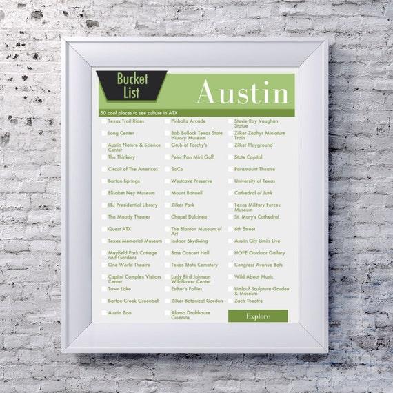 seau liste austin texas no l bucket list dans votre choix de. Black Bedroom Furniture Sets. Home Design Ideas