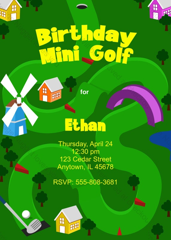 Mini golf birthday invitation printable design etsy image 0 filmwisefo
