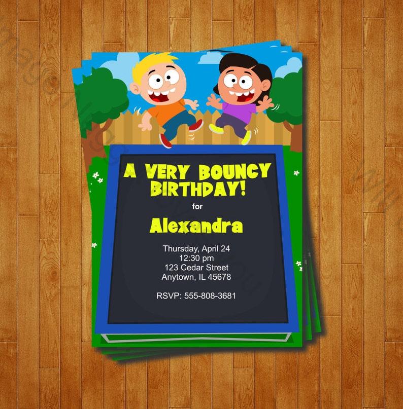 einladungskarten kindergeburtstag zum ausdrucken trampolin