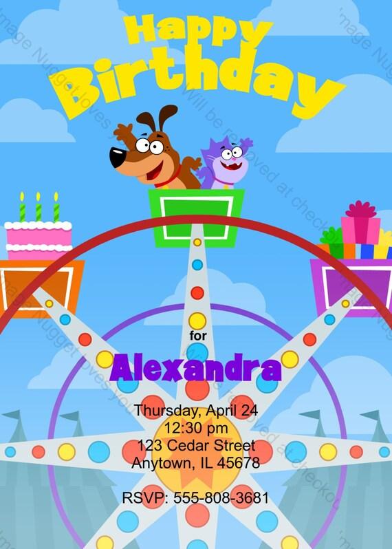 Riesenrad Einladung Zum Kindergeburtstag Druckbare Design